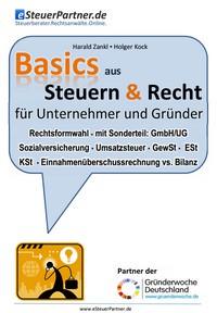 """Kostenloses E-Book """"Basics aus Recht & Steuern - für Unternehmer und Gründer"""""""
