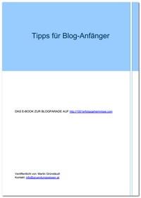"""Kostenloses E-Book """"Tipps für Blog-Anfänger"""""""
