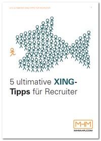 "Kostenloses E-Book ""5 ultimative Xing-Tipps für Recruiter"""