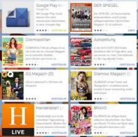 Kostenlose Zeitschriften im Google Play Kiosk