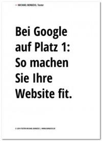 """Kostenloses eBook """"Bei Google auf Platz 1"""""""